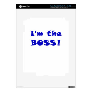 Im the Boss iPad 3 Decals