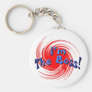 I'm The Boss Basic Round Button Keychain