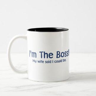 I'm the Boss My Wife Said So Two-Tone Coffee Mug