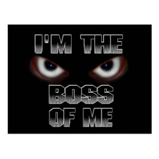 I'M THE BOSS OF ME! POSTCARD