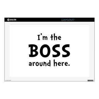 Im The Boss Decals For Laptops