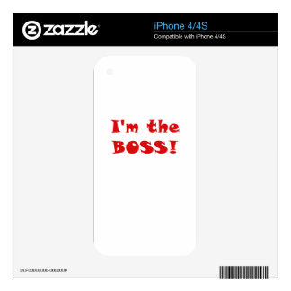 Im the Boss Skin For iPhone 4S