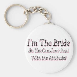 I'm The Bride Basic Round Button Keychain