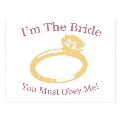 I'm The Bride Post Cards