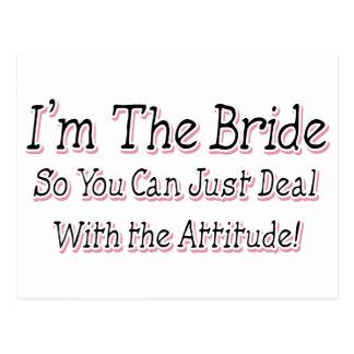 I'm The Bride Postcard