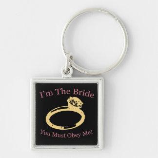 I'm The Bride Silver-Colored Square Keychain