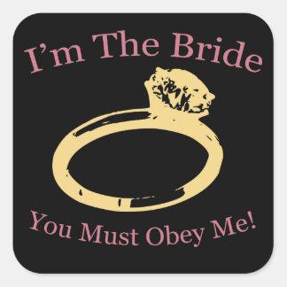 I'm The Bride Square Sticker