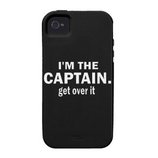 I'm the Captain. Get over it. - Funny Boating iPhone 4 Cases