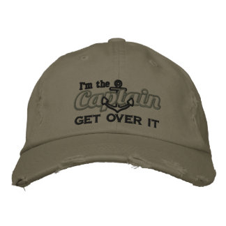 I'm the Captain Get Over It Humorous Embroidered Baseball Cap