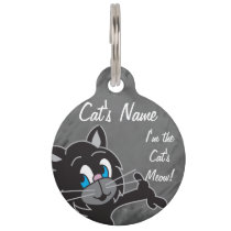I'm the Cat's Meow Pet Tag! Pet Name Tag