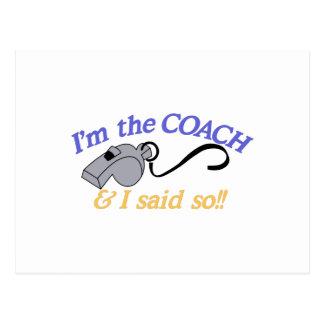 Im The Coach Postcard