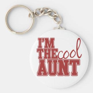 Im the cool aunt basic round button keychain