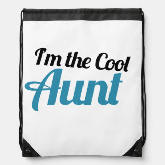 I'm the COOL Aunt Drawstring Bags