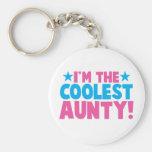 I'm the COOLEST Aunty! Basic Round Button Keychain