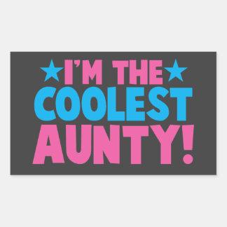 I'm the COOLEST Aunty! Rectangular Sticker