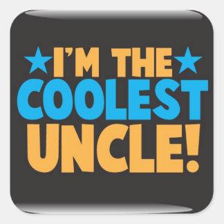 I'm the Coolest Uncle! Square Sticker