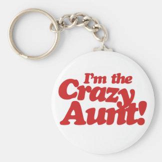 Im the Crazy Aunt Basic Round Button Keychain