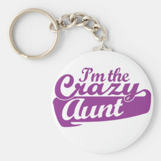 I'm the Crazy Aunt Basic Round Button Keychain