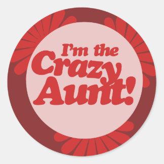 Im the Crazy Aunt Classic Round Sticker