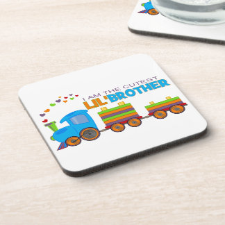 I'm the cutest Lil' Brother Beverage Coaster