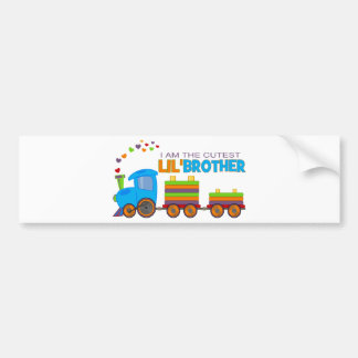 I'm the cutest Lil' Brother Bumper Sticker