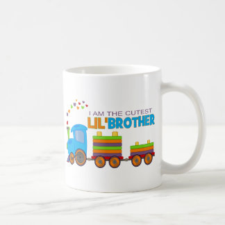 I'm the cutest Lil' Brother Classic White Coffee Mug
