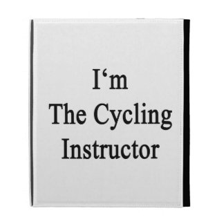 I'm The Cycling Instructor iPad Folio Cover