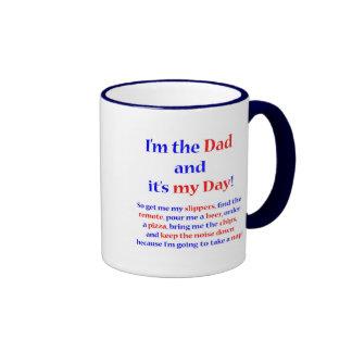 I'm the Dad! Ringer Coffee Mug