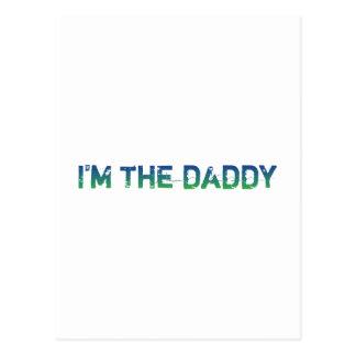 I'm The Daddy - Blue-Green - Postcard