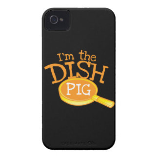 I'm the DISH PIG with a saucepan iPhone 4 Case-Mate Case