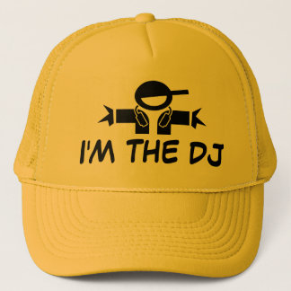 I'm the DJ hat | Cap with DJ wearing headphones