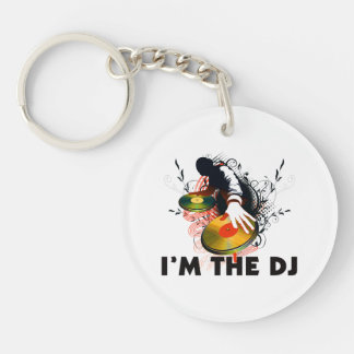 I'm The DJ Rockin The Turntables Keychain