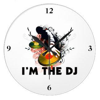 I'm The DJ Rockin The Turntables Large Clock