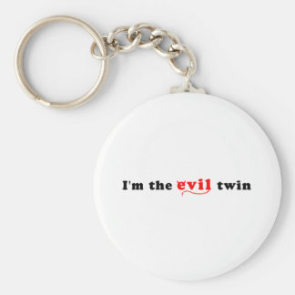 I'm The Evil Twin Basic Round Button Keychain