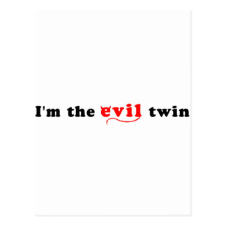 I'm The Evil Twin Postcard