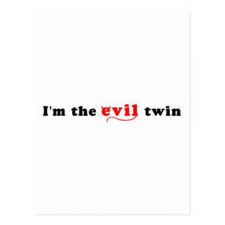 I'm The Evil Twin Postcard