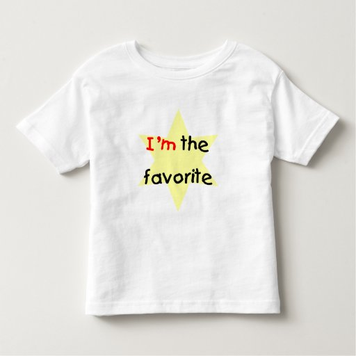 I'm the favorite (yellow) toddler t-shirt