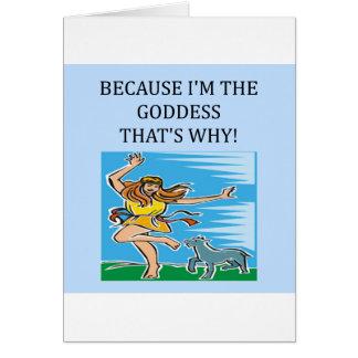 i'm the goddess card