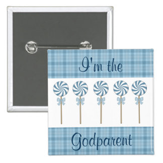 I'm the Godparent Blue  Customized Pinback Button