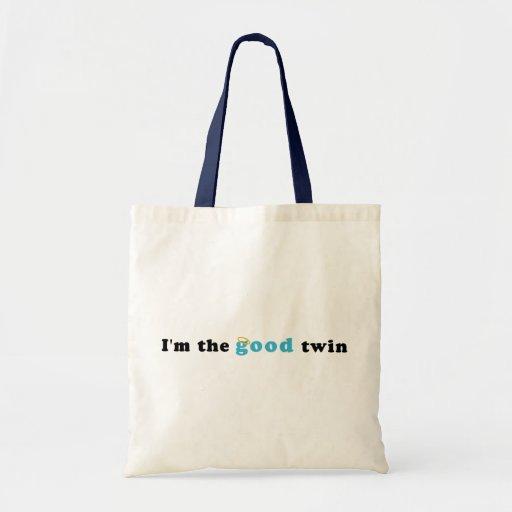 I'm The Good Twin Budget Tote Bag