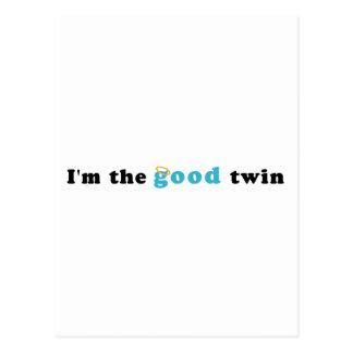 I'm The Good Twin Postcard