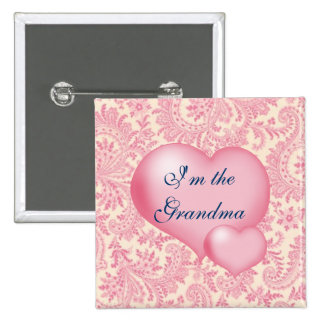 Im the Grandma Pink Pinback Button
