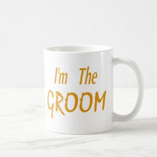 I'm The Groom gold Coffee Mugs