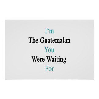 I'm The Guatemalan You Were Waiting For Poster