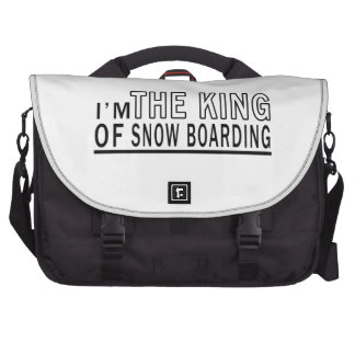 I'm The King Of Snow Boarding Commuter Bag
