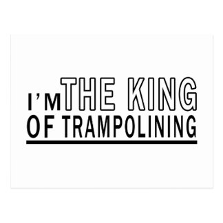 I'm The King Of Trampolining Postcard