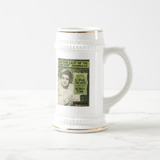 I'm The Last Of The Red Hot Mamas Songbook Cover 18 Oz Beer Stein