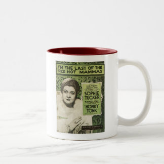 I'm The Last Of The Red Hot Mamas Songbook Cover Two-Tone Coffee Mug