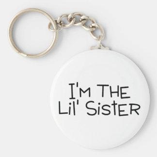 Im The Lil Sister Basic Round Button Keychain