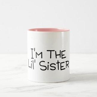 Im The Lil Sister Two-Tone Coffee Mug